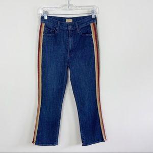 MOTHER The Insider Crop  Away Glitter Racer Jeans